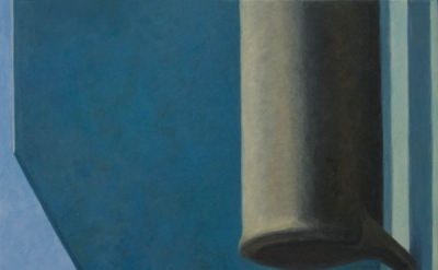 Altoon Sultan, Black Cylinder, 2012, egg tempera on calfskin parchment (courtesy