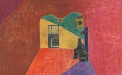 Tal R, The Shlomo, 2011, rabbit glue, pigment and crayon on canvas, 98 1/2 x 98