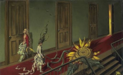 Dorothea Tanning, Eine Kleine Nachtmusik, 1943, Oil on canvas (Tate Gallery)