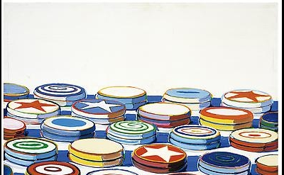 Wayne Thiebaud, Yo Yos, 1963, oil on canvas, 24 x 24 in. (61 x 61 cm). Collectio