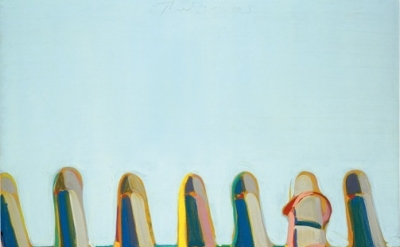 Wayne Thiebaud, Shoe Rows, 1975, oil on canvas, 30 x 24 inches (76.2 x 61 cm), C