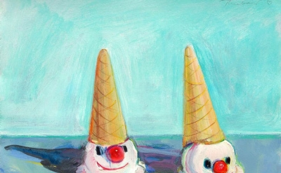 Wayne Thiebaud, Clown Cones, 2000 (courtesy of White Cube, © Wayne Thiebaud/DACS, London/VAGA, New York 2017)