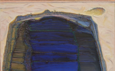 Wayne Thiebaud, Big Rock Mountain, 2004-12, oil on canvas, 54 x 54 inches (court