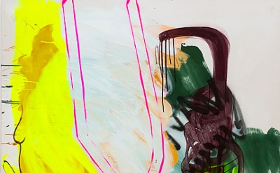 Sabine Tress, Abracadabra, 2012, 150x150cm (59 x 59 inches), acrylic paint and s