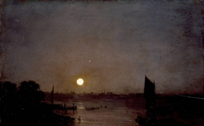 J.M.W. Turner, Moonlight, a Study at Millbank, oil on wood, 314 x 403 mm, exhibi