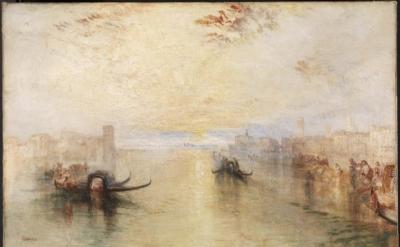 Joseph Mallord William Turner, St Benedetto looking towards Fusina, oil paint on
