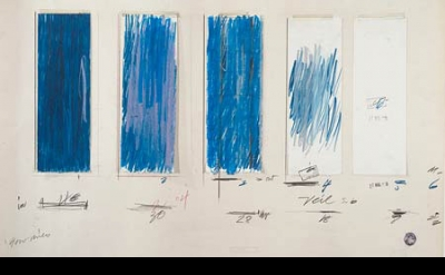 Cy Twombly, Untitled, 1970, crayon, graphite pencil, ink, oil stick, colored pen