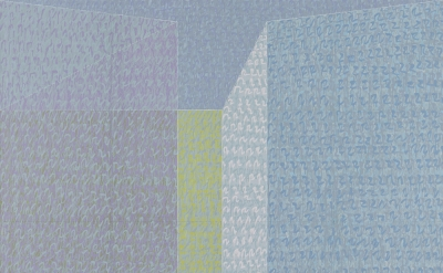 Jack Tworkov, P73 #5, 1973, oil on canvas, 96 x 96 inches (courtesy of Alexander