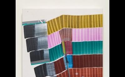Juan Usle, Zebulon Metro 2009, Mixed media paint on canvas, 61 x 46 cm. Courtesy