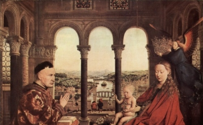 Jan van Eyck, The Madonna of Chancellor Rolin, c. 1435, Louvre, Paris