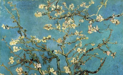 Vincent Van Gogh, Branches with Almond Blossom, 1890 Oil on canvas (Rijksmuseum