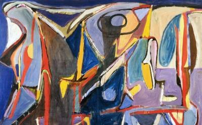 Bram van Velde, Untitled, Tardais, 1959, oil on canvas, 51 x 76-3/4 inches (Priv