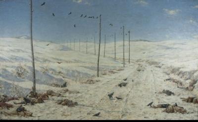 Vasily Vereshchagin, The Road of the War Prisoners, 1878-1879, Oil on canvas, 71