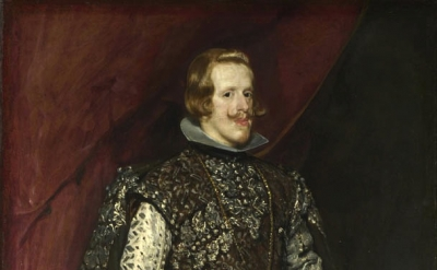 Diego Velazquez, Philip IV in Brown and Silver c. 1631-32 Oil 199.5 x 113 cm (Na