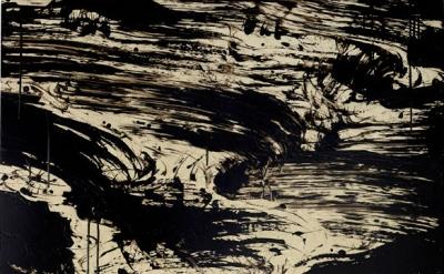 Fabienne Verdier, Instability I, 2016, acrylic and mixed media on canvas, 226 x 150 cm (courtesy of Waddington Custom)