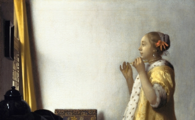 Johannes Vermeer, 1664, oil on canvas, 21 5/8 in × 17 3/4 inches (Gemäldegalerie