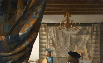 Jan Vermeer, The Artist in His Studio, 1665-1670, oil on canvas, 52 x 44 inches (Kunsthistorisches Museum Vienna)