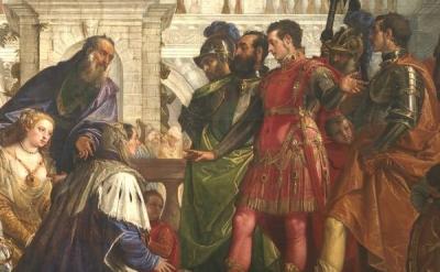 (detail) Paolo Veronese: The Family of Darius before Alexander, 1565–1567 (Natio