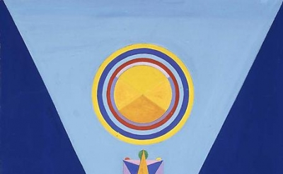 Charmion von Wiegand, The Diamond Path, 1966-67, gouache on paper (courtesy of M