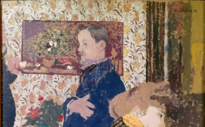 Edouard Vuillard, Misia and Vallotton at Villeneuve, 1899, oil on cardboard, 28