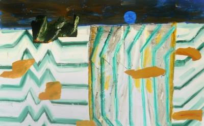 John Walker, Island, 2014, oil on canvas, 72 x 60 inchess (courtesy of Alexandre