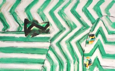 John Walker, Cascade, 2015, oil on canvas, 84 × 66 inches (courtesy of Alexandre
