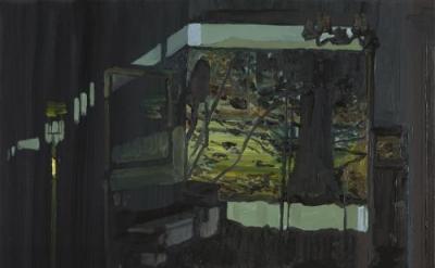 Richard Walker, Tree, 2011, oil on panel, 14 x 20 inches (courtesy of Alexandre