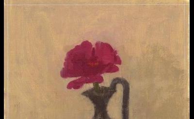 Susan Jane Walp, Magenta Zinnia in a Black Etruscan Vase, 2015, oil on paper, 10