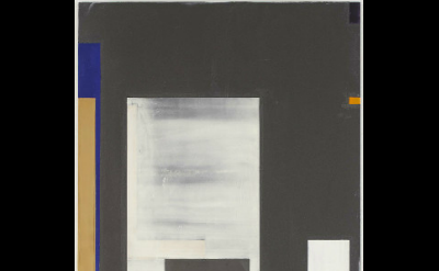 Joan Waltemath, Oaxaca Blue/darkness too, 2007-15, oil,  graphite, bronze, flour
