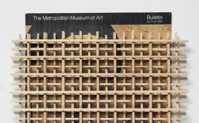 Ken Weathersby, 203 (museum bulletin 1982), 2012, paper, wood, glue 11.5 x 10 in