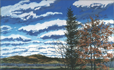 Neil Welliver, Shadow on Briggs Meadow, 1981 (courtesy the center for Figurative
