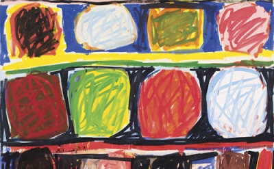 Stanley Whitney, Radical Openness, 1991, oil on canvas, 81 1/2 x 103 1/2 inches