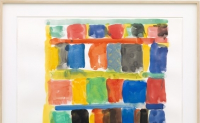 Stanley Whitney, Untitled, 2013, gouache on paper, 22 x 30 1/8 inches (courtesy
