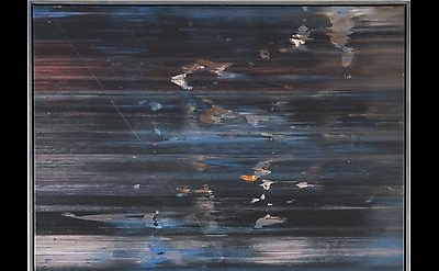 Jack Whitten, April's Shark, 1974, acrylic on canvas, 72 x 52 inches (courtesy o