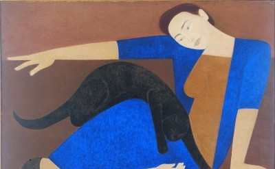 Will Barnet, The Blue Robe, 1962, Oil on canvas, 50 x 54 inches, Private Collect