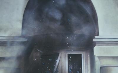 Viktor Witkowski, Unknown Site (No.7), 30 x 25 inches, oil on linen, 2011 (court