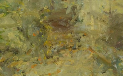 Jordan Wolfson, Interior in Seven Parts, Part 6, 2011, oil on linen, 28 x 25 inc