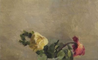 Jordan Wolfson, Still Life with Flowers (In Memory of Tamar B.), 2014, oil on li