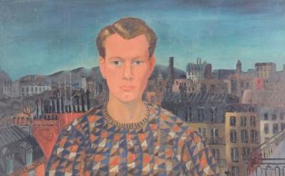 Christopher Wood, Self-Portrait, 1927, oil on canvas, 1295 x 960 mm (© Kettle's