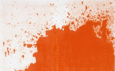 Chrisotpher Wool, Minor Mishap, 2001, silkscreen ink on linen, 274.3 x 182.9 cm