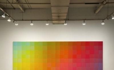 Installation view: Sanford Wurmfeld: Color Visions 1966 – 2013 at Hunter College
