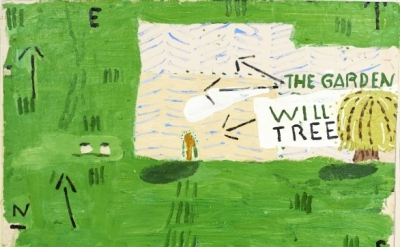 Rose Wylie, Willow Tree, 2015, oil on canvas (courtesy of the artist and Turner