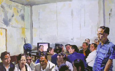Liu Xiaodong, Waheed in Lord's Robes, oil on canvas, 90 x 100 cm (courtesy of th