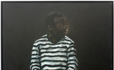 Lynette Yiadom-Boakye, 11 pm Friday, 84 x 72 inches, oil on canvas, 2008 (courte
