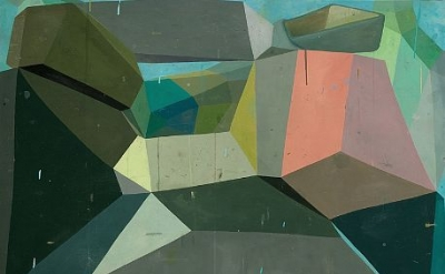 Deborah Zlotsky, Waiting Room, 48 x 60 inches, oil on canvas, 2011 (courtesy of