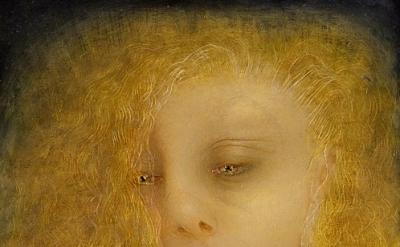 Portrait (Blonde), 2003 Oil on Linen, 12 x 12 inches, detail