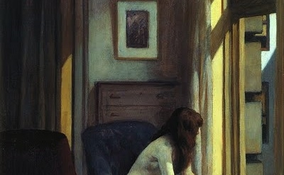 Edward Hopper painting, detail
