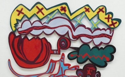Elizabeth Murray, Everybody Knows, 2007, oil on canvas, detail