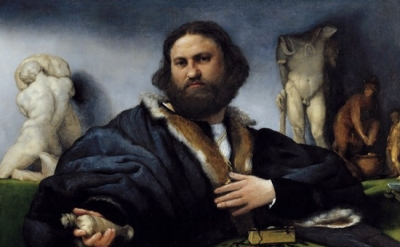 Lorenzo Lotto, Portrait of Andrew Odoni, 1527, Royal Collection, Hampton Court,