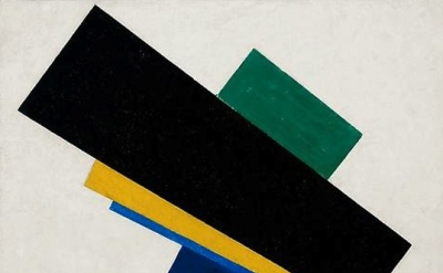 Kazimir Malevich, Suprematism, 18th Construction, 1915, detail